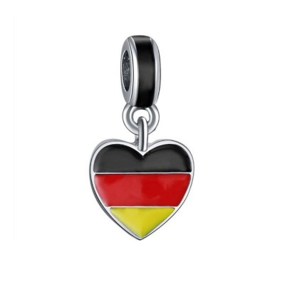 German Flag Breloque Argent Sterling