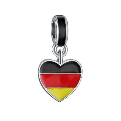 German Flag Breloque Argent Sterling