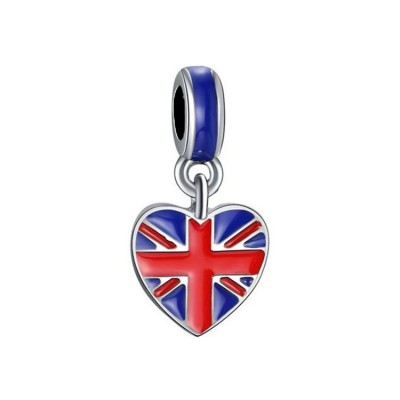 British Flag Breloque Argent Sterling