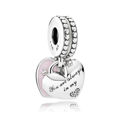 I Amour Mom Breloque Argent Sterling