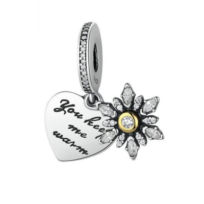 You Keep Me Warm Breloque Argent Sterling
