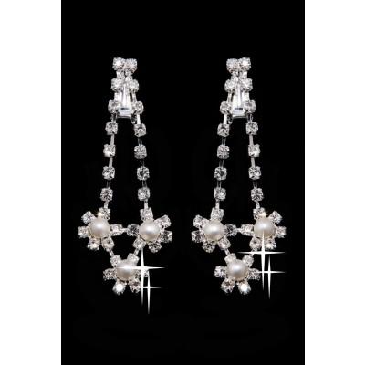 Très Breloqueing Alliage Cristaux Clairs Perles Coiffe de Mariage Colliers Boucles d'oreilles Set